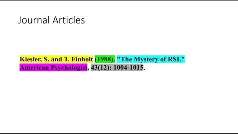 Thumbnail for entry Basic Elements of a Bibliographic Citation