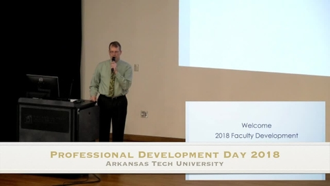 Thumbnail for entry Professional Development Day 2018 - Pt. 1