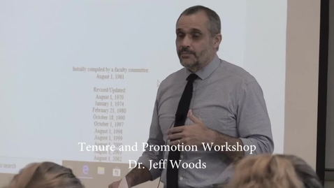 Thumbnail for entry Tenure and Promotion Workshop
