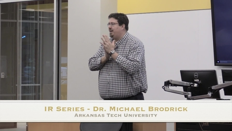 Thumbnail for entry IR Series - Dr. Michael Brodrick