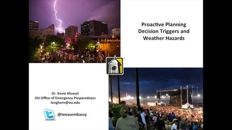 Thumbnail for entry Department of Emergency Management Preparedness Planning