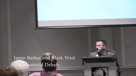 Thumbnail for entry Gubernatorial Debate