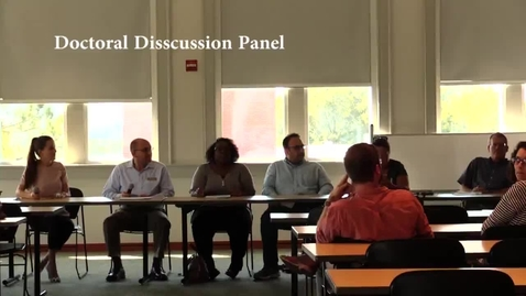 Thumbnail for entry Doctoral Discussion Panel