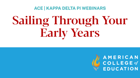 Thumbnail for entry Teacher Toolbox Series: Sailing Through Your Early Years