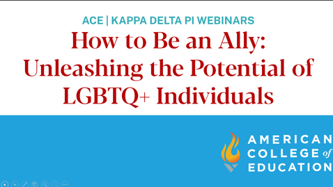 Thumbnail for entry How to Be an Ally Unleashing the Potential of LGBTQ Individuals