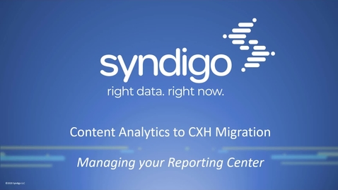 Thumbnail for entry Introduction - Managing your Reporting Center