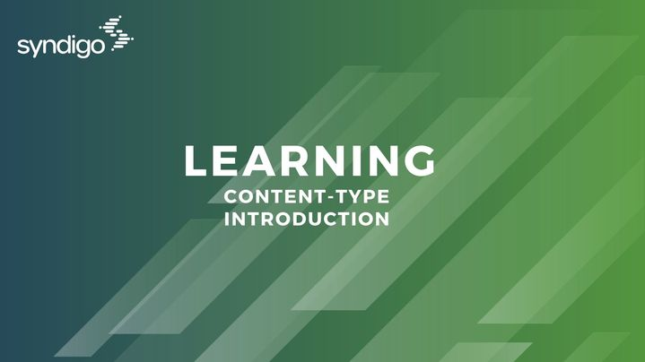 Thumbnail for channel Content Type Introduction Learning Module