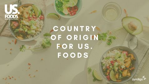 Thumbnail for entry Country of Origin For US. Foods