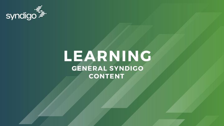 Thumbnail for channel General Syndigo Content Learning Module