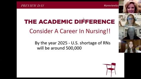 Thumbnail for entry Nursing Program Session