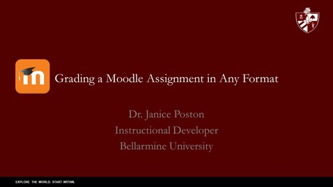Thumbnail for entry Grading a Moodle Assignment in Any Format June 2020