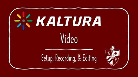 Thumbnail for entry Kaltura: An Introduction