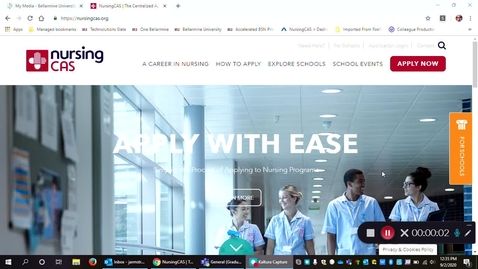 Thumbnail for entry Nursing CAS Application: How to create your application