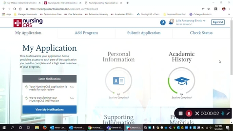 Thumbnail for entry Nursing CAS Application: How to link your pre-reqs to your transcript entry