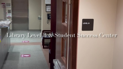 Thumbnail for entry Part V of IX - Spring 2021 Tour - Library Level B and Student Success Center