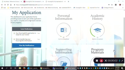 Thumbnail for entry Nursing CAS Application:  How to add colleges & order transcripts