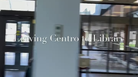 Thumbnail for entry Part III of X - Spring 2021 Tour - Centro to Library