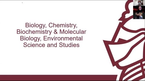 Thumbnail for entry Biology, Chemistry, Biochemistry & Molecular Biology, Environmental Science & Studies session