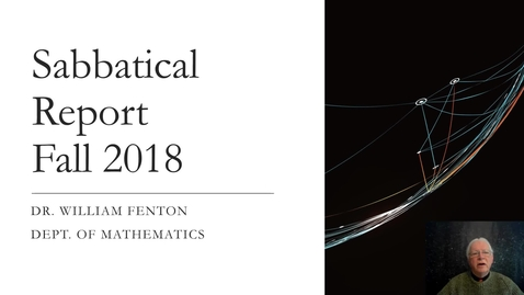 Thumbnail for entry William E. Fenton, Ph.D. - Textbook Revisions and Additions for Modern Geometry and Discrete Mathematics