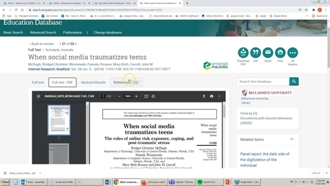 Thumbnail for entry Education Database (ProQuest): Searching for Peer Reviewed Articles