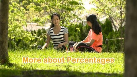 內容項目 More about Percentages (English subtitles available) 的縮圖