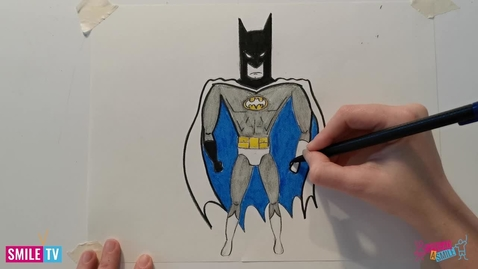Thumbnail for entry Learn to draw Batman