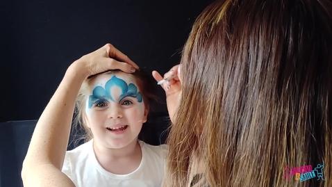 Thumbnail for entry Princess Elsa Facepaint