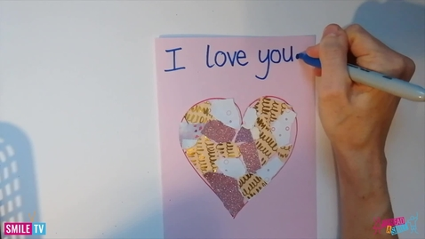 Thumbnail for entry Collage Love heart Cards making