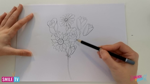 Thumbnail for entry Learn how to draw a Bunch of Flowers