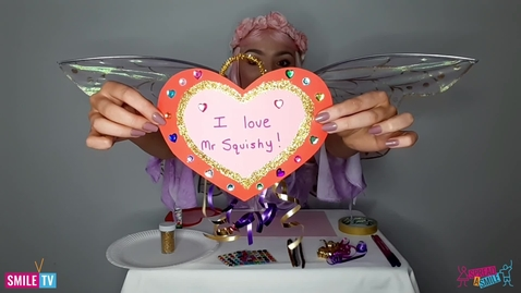 Thumbnail for entry Making love heart cards with fairy Lavender