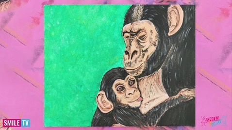 Thumbnail for entry Learn how to draw a monkey and her baby.
