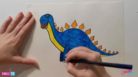 Thumbnail for entry Stegosaurus Drawing
