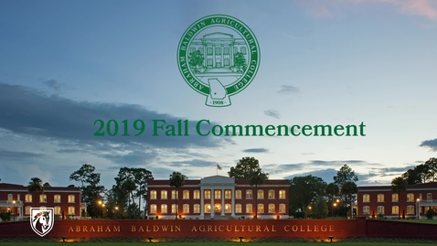 Thumbnail for entry 2019 Fall Commencement