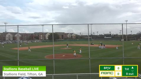 Thumbnail for entry Stallions Baseball LIVE vs. Brewton Parker