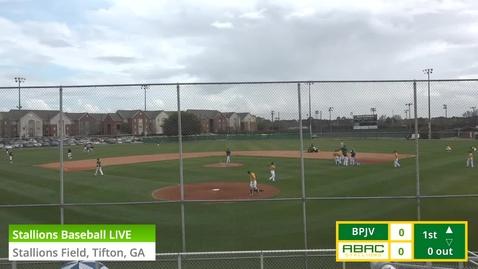 Thumbnail for entry Stallions Baseball LIVE vs. Brewton Parker