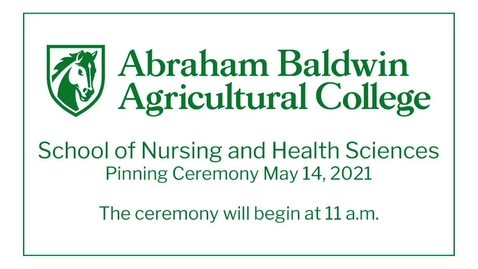 Thumbnail for entry School of Nursing and Health Sciences  Pinning Ceremony