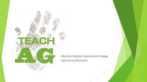 Thumbnail for entry Agricultural Education