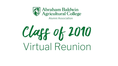 Thumbnail for entry Class of 2010 Virtual Reunion