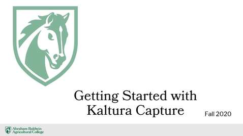 Thumbnail for entry Getting Started with Kaltura Capture 2020
