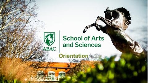 Thumbnail for entry School of Arts and Sciences Orientation