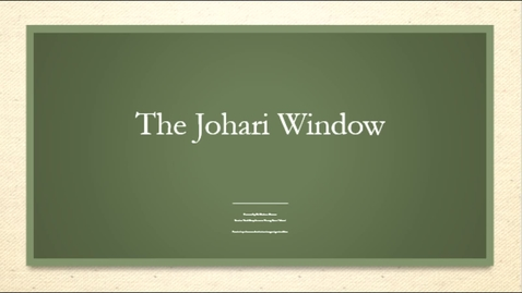 Thumbnail for entry Johari Window - September 22nd 2020, 5:25:59 pm