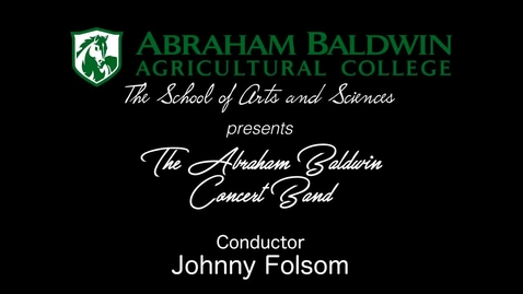 Thumbnail for entry Sping 2018 Band Concert