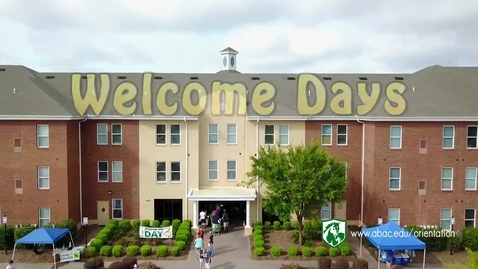 Thumbnail for entry Welcome Days 2018