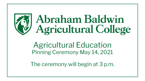 Thumbnail for entry Agricultural Education Pinning Ceremony