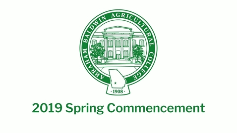 Thumbnail for entry 2019 Spring Commencement