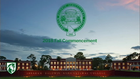 Thumbnail for entry 2018 Fall Commencement
