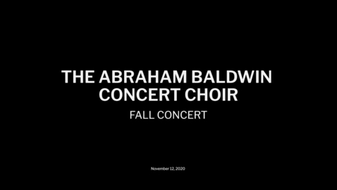 Thumbnail for entry Chior Fall Concert 2020