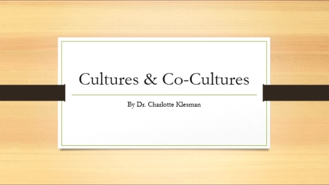 Thumbnail for entry Cultures and Co-cultures - August 18th 2020, 9:15:29 pm