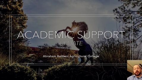 Thumbnail for entry Academic Support Update