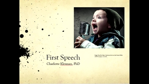 Thumbnail for entry First Speech- August 16th 2020, 12:13:43 pm